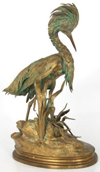 Bronze Moigniez Egret Sculpture - 5