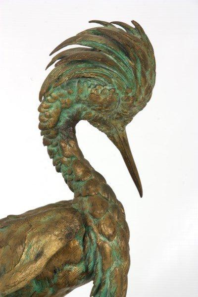 Bronze Moigniez Egret Sculpture - 6