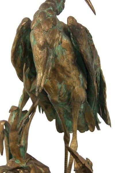 Bronze Moigniez Egret Sculpture - 7