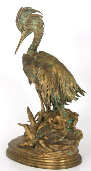 Bronze Moigniez Egret Sculpture - 8