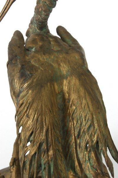 Bronze Moigniez Egret Sculpture - 9