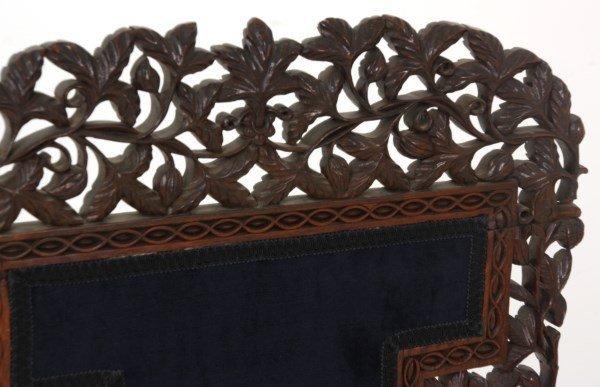 Pierced Carved Teak Hall Chair - 10