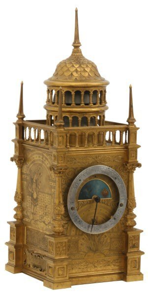 Planchon Bronze Royal Palace Mantle Clock