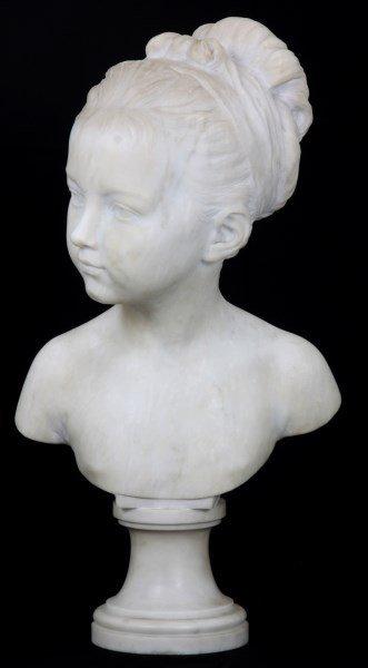 H. Gerber Carved Marble Bust