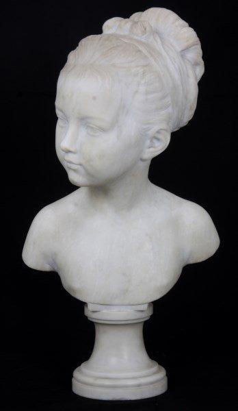 H. Gerber Carved Marble Bust - 2