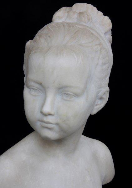 H. Gerber Carved Marble Bust - 3