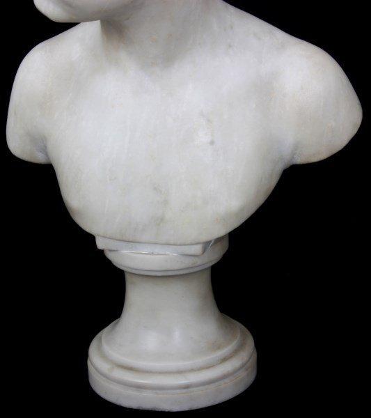 H. Gerber Carved Marble Bust - 4