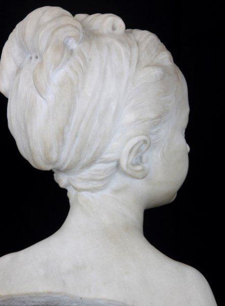 H. Gerber Carved Marble Bust - 7