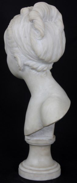 H. Gerber Carved Marble Bust - 9