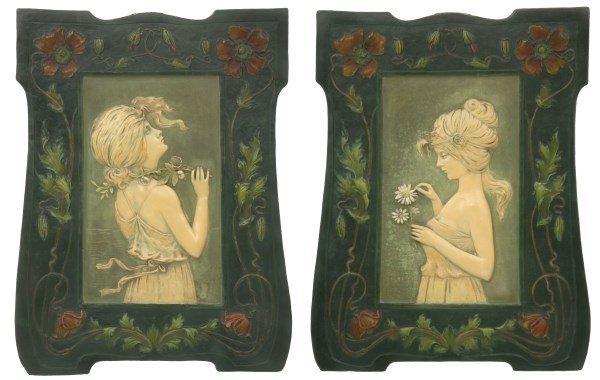 Pr. Self-Framed Terracotta Wall Plaques