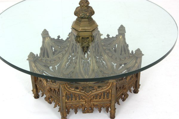 Gothic Pierced Bronze Center Coffee Table - 5