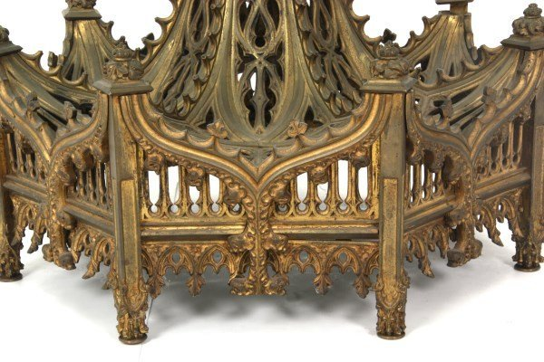 Gothic Pierced Bronze Center Coffee Table - 7