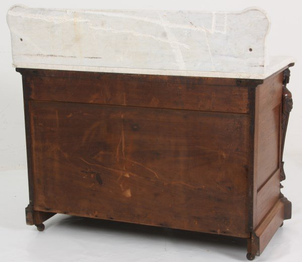 Walnut Marble Top Full Commode - 10
