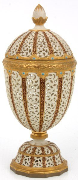 Grainger & Co. Reticulated Porcelain Urn - 2