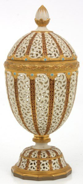 Grainger & Co. Reticulated Porcelain Urn - 3