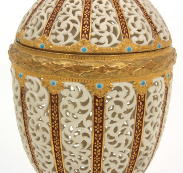 Grainger & Co. Reticulated Porcelain Urn - 5