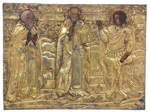 Russian Three Holy Hierarchs Icon