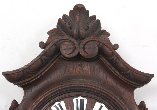 Black Forest Carved Wall Clock and Barometer - 6