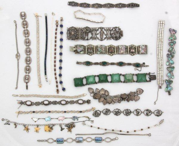 48 Sterling Silver Bracelets