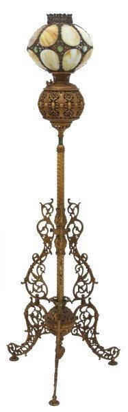 Cast Iron Banquet Floor Lamp - 2