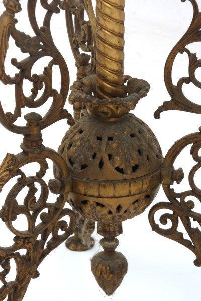Cast Iron Banquet Floor Lamp - 8