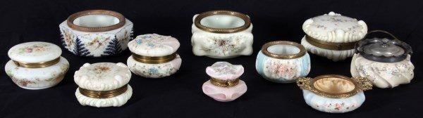 10 Pcs. Wavecrest Opal Glass Boxes