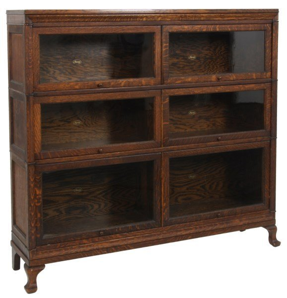Macey Oak Double Sectional Stacking Bookcase