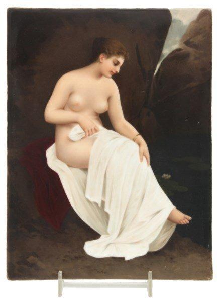 KPM Porcelain Plaque Bathing Nude