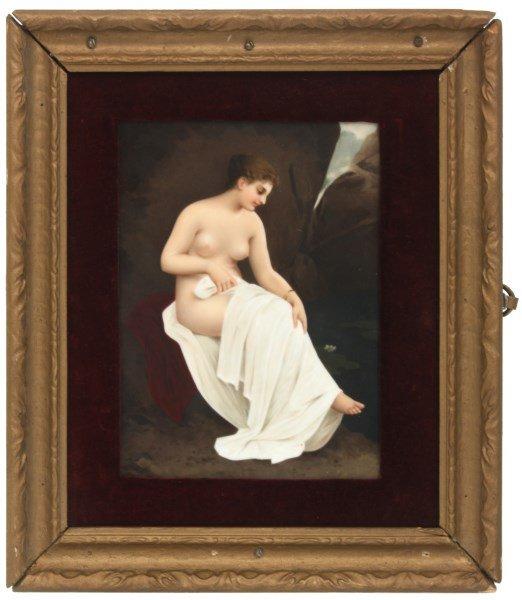 KPM Porcelain Plaque Bathing Nude - 2