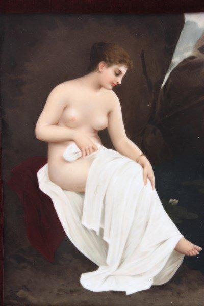 KPM Porcelain Plaque Bathing Nude - 3