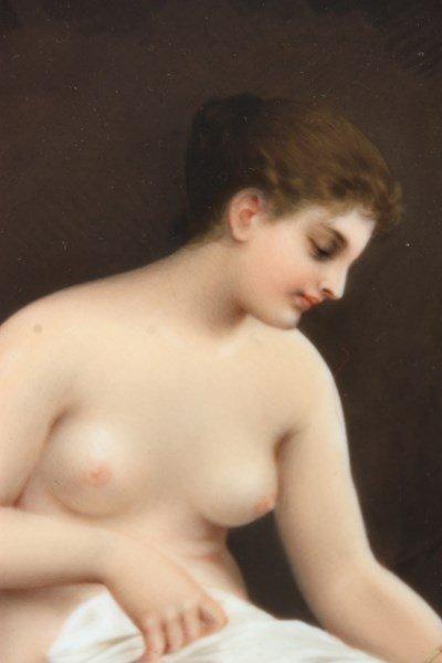 KPM Porcelain Plaque Bathing Nude - 4