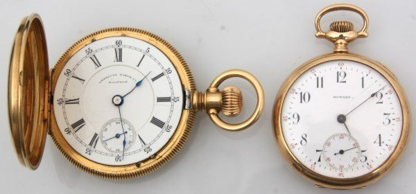 2 American Gold Pocket Watches