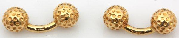 Hermes 18K Gold Golf Ball Cufflinks