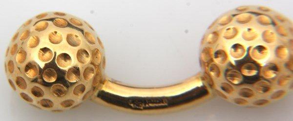Hermes 18K Gold Golf Ball Cufflinks - 2
