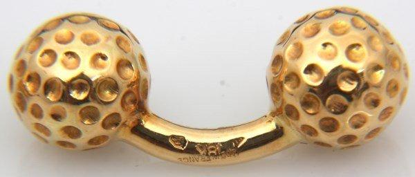 Hermes 18K Gold Golf Ball Cufflinks - 3