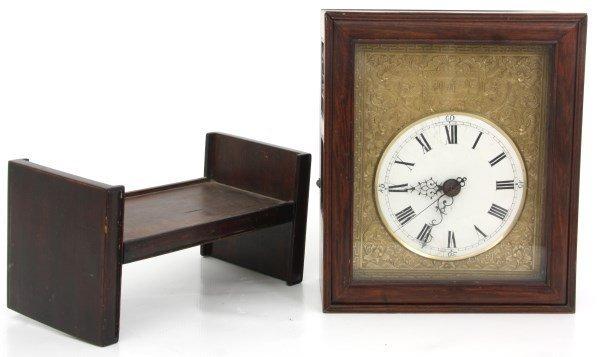 Chinese Double Fusee Teak Bracket Clock - 10