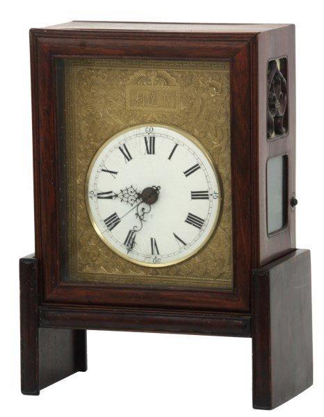 Chinese Double Fusee Teak Bracket Clock - 2