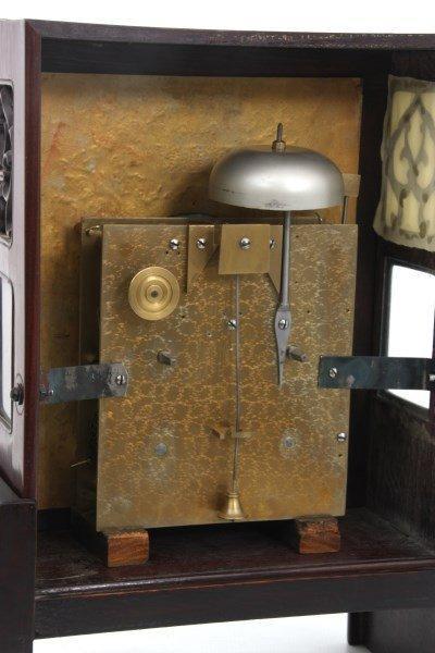 Chinese Double Fusee Teak Bracket Clock - 8