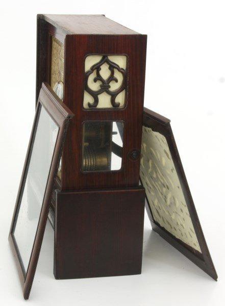Chinese Double Fusee Teak Bracket Clock - 9