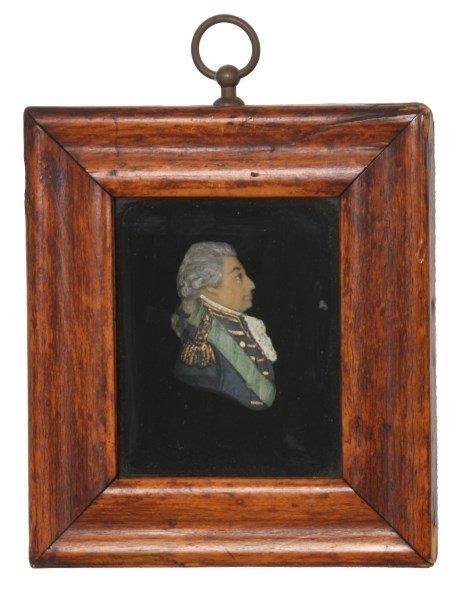 2 Framed Miniature Wax Profile Portraits - 3