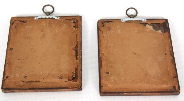 2 Framed Miniature Wax Profile Portraits - 6