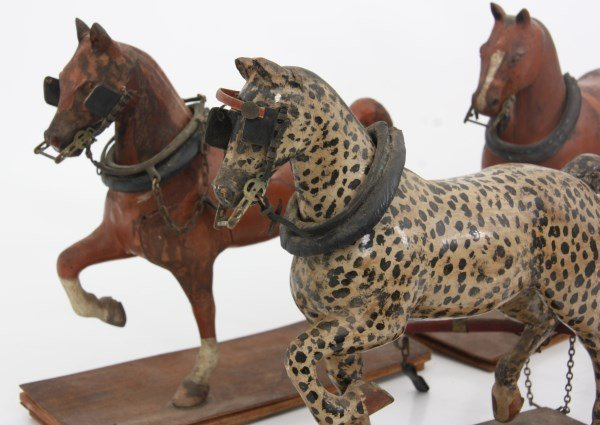 19th C. Hand Carved and Painted Toy Stage Coach - 5
