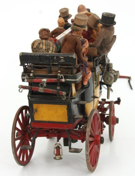 19th C. Hand Carved and Painted Toy Stage Coach - 8