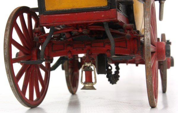 19th C. Hand Carved and Painted Toy Stage Coach - 9