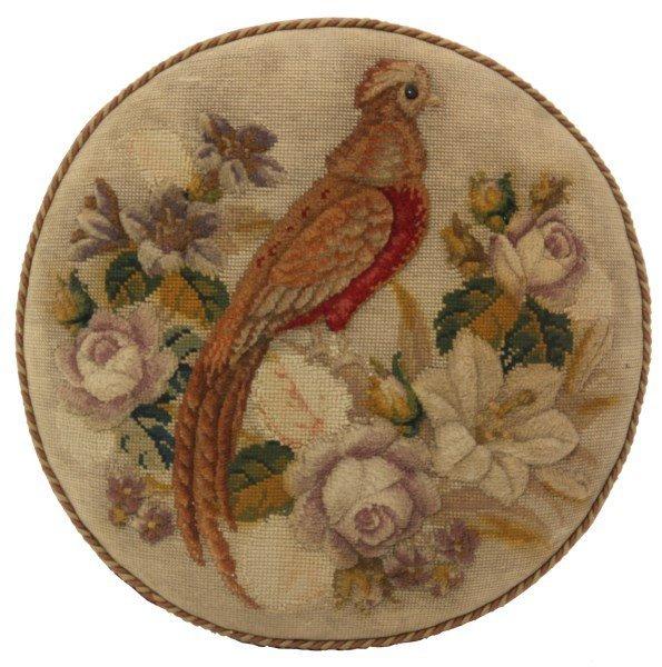 Victorian Walnut Tapestry Footstool - 3