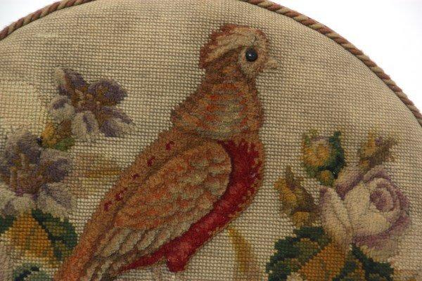 Victorian Walnut Tapestry Footstool - 4