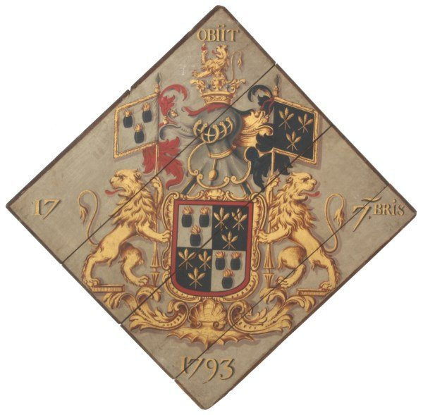 Hand Painted Funerary Hatchment