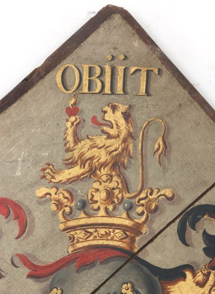 Hand Painted Funerary Hatchment - 2