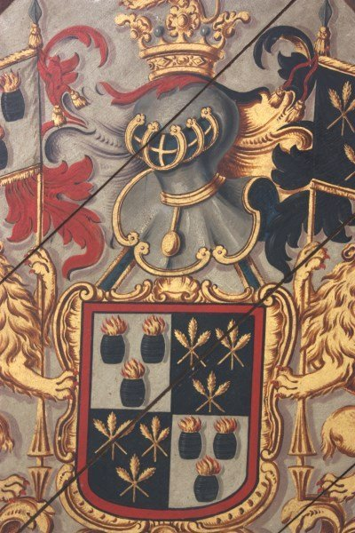 Hand Painted Funerary Hatchment - 3