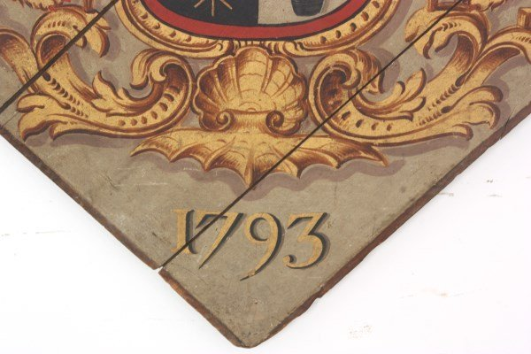 Hand Painted Funerary Hatchment - 5